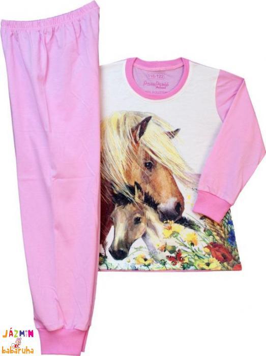 Lovas kislány pizsama (dupla méretezésű)  e000806f84