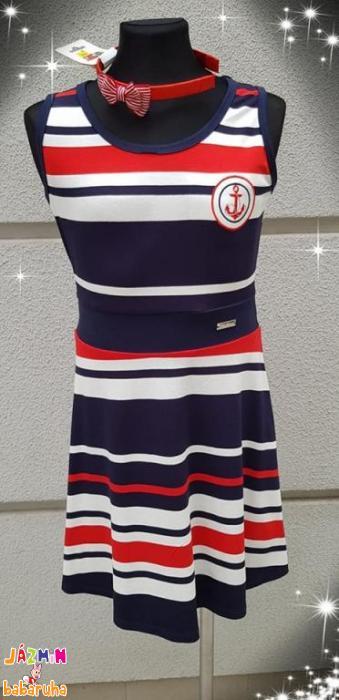 118fe59b4b Killy Design tengerész csíkos nyári ruha nagylányoknak | Jázmin baba ...
