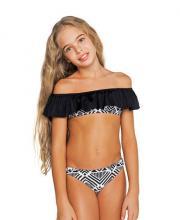 Coco Bana fekete-fehér fodros vállú bikini (dupla méretezésű) 49214163be