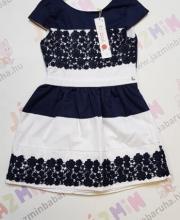 7ba5841127 BOBOLI álomszép alkalmi ruha kék-fehér színben