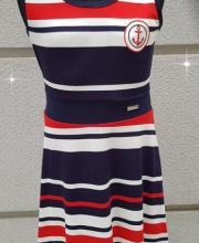 5b39351612 Killy Design tengerész csíkos nyári ruha nagylányoknak. 5 990 Ft. Killy  Design fekete-fehér alkalmi ruha gyönyörű csipkével díszítve