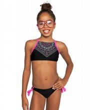 Coco Bana magasnyakú pink-fekete bikini (dupla méretezésű) 953ca304c1