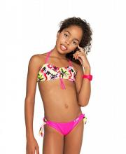 Coco Bana neon-pink mintás csőtoppos bikini (dupla méretezésű) bc4e2f496d