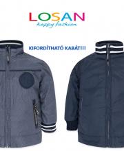 5cc0c13d76 Losan kifordíthatós vékony tavaszi kabát kisfiúknak
