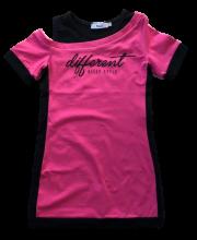 7fa11504d0 Killy Design vállon nyitott hosszított tunika pink-fekete színben