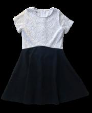 bfc451561c Killy Design fekete-fehér alkalmi ruha gyönyörű csipkével díszítve